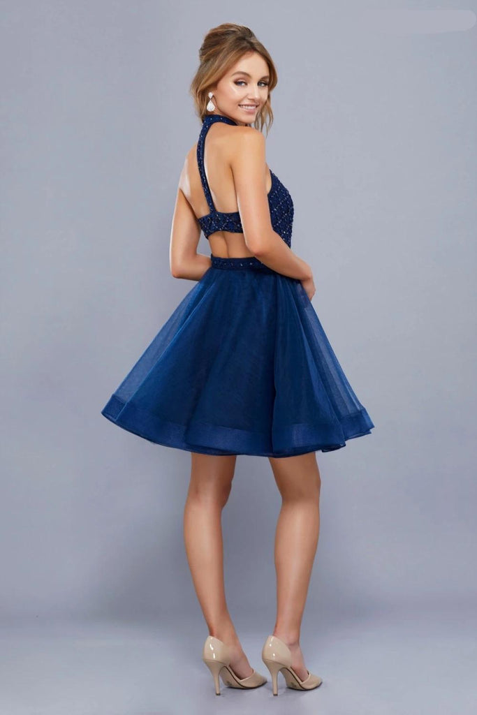 Halter Neckline Prom Short Dress NX6316