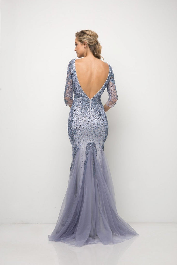 Wholesale Long Sleeves Beaded Mother Of The Bride Dress Gown CD6481-Mother of the Bride Dresses | alwaysprom.com-alwaysprom.com