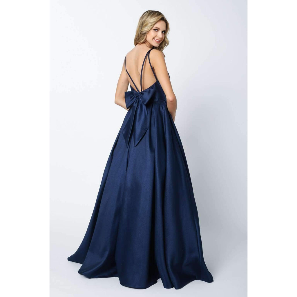 Ballgown V-Neckline Long Prom Dress JT686