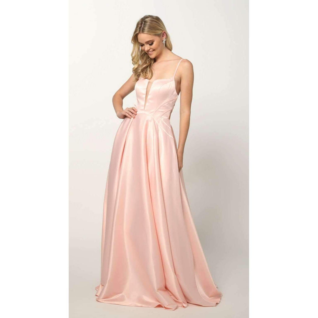A-Line Sleeveless Long Prom Dress JT687