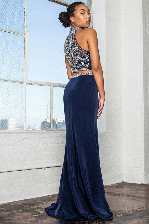 Two Piece Set Celebrity Evening Gowns GSGL2424-Evening Dresses-alwaysprom.com