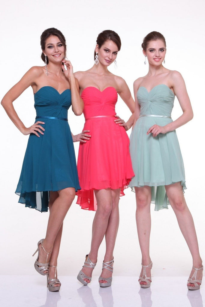 Sweetheart Neckline Strapless Short Evening Dress Plus Size CD7456