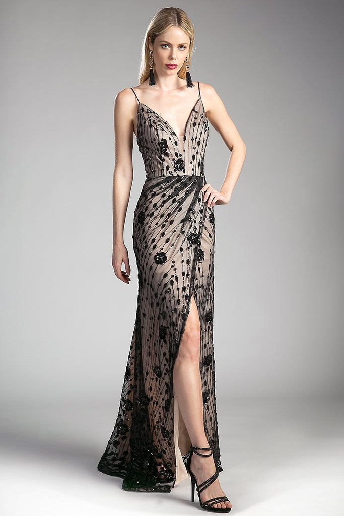 V Neckline Evening Gowns 2019 CDCH554-Long Dresses-alwaysprom.com