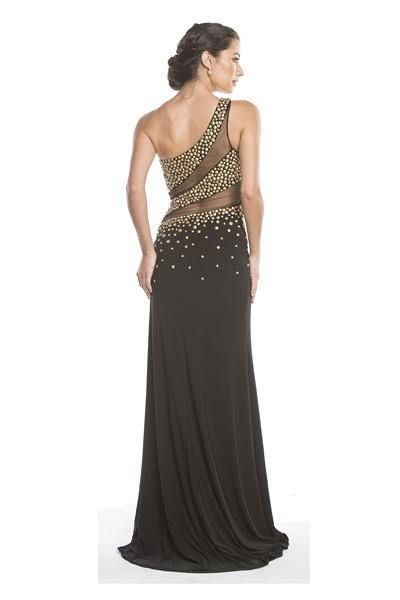 One Shoulder Evening Gowns 2019 APL1607-Evening Dresses-smcfashion.com