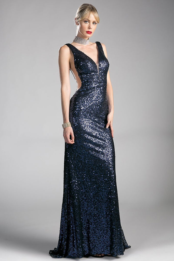 V Neckline Elegant Cute Evening Dresses CDCR802-Long Dresses-alwaysprom.com