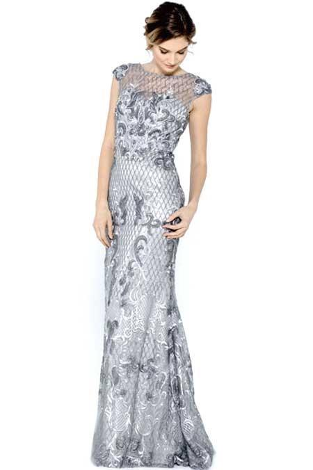 Long Dresses for Formal Evening with Illusion Neckline ACSU028-Evening Dresses-alwaysprom.com
