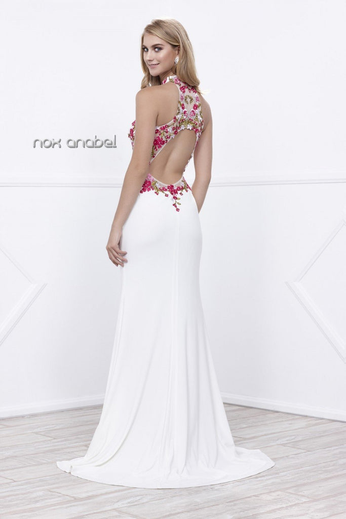 SALE Floral Sleeveless Mermaid Long Prom Dress NX8322