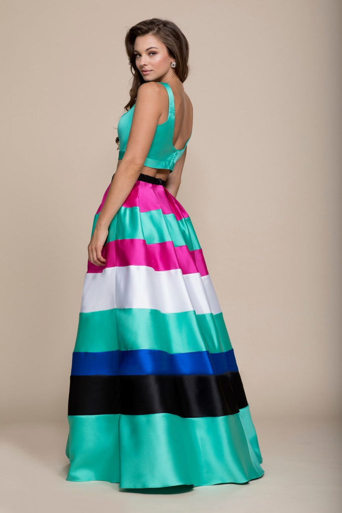 Multi Colored Long Prom Dress NX8335