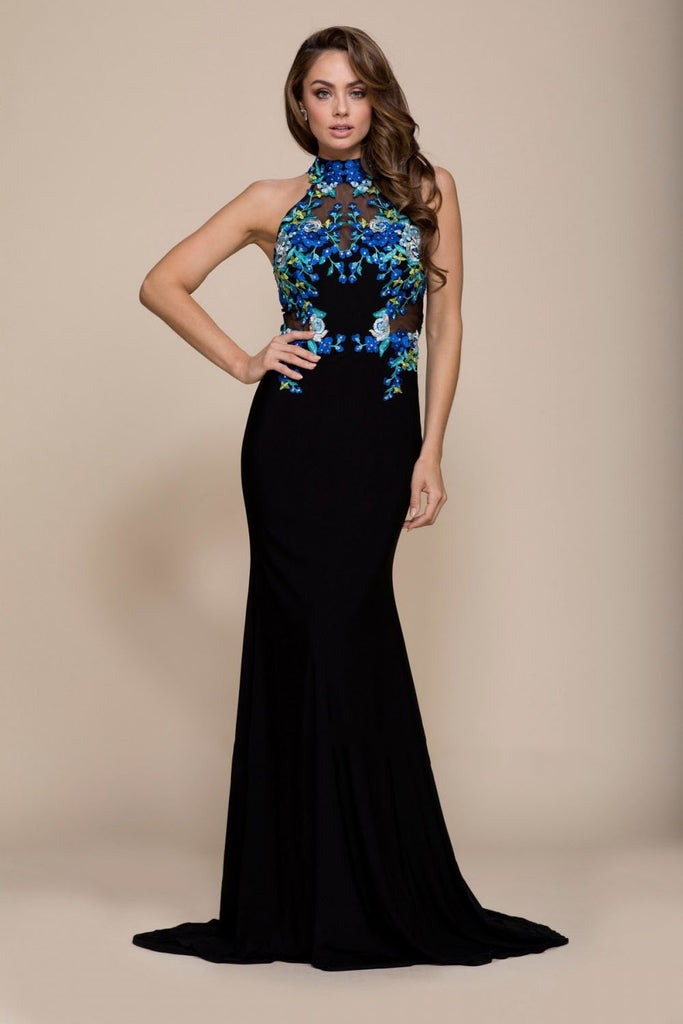 High Neckline Long Mermaid Dress NX8375