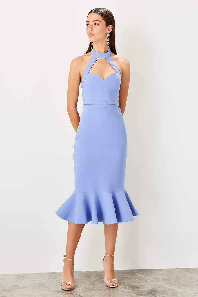 Halter Sweetheart Neckline Short Evening Dress TKTPRSS19BB0429