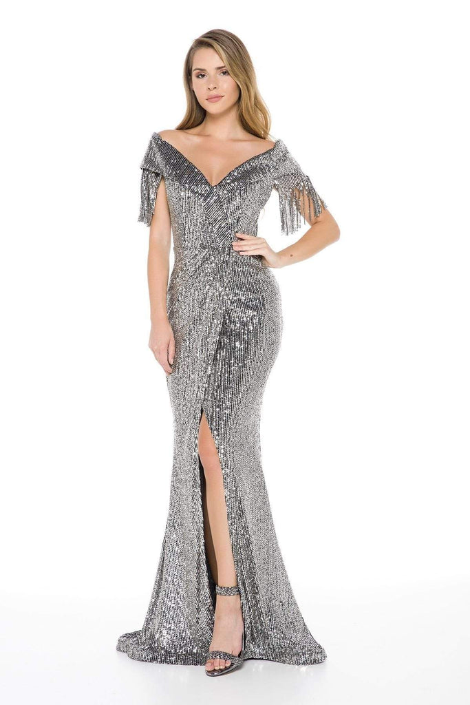 Royal Super Sequined Mermaid Long Prom Dress TKLN8050