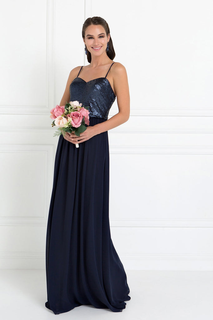Full Sequin Top Chiffon Long Gown Dresses GSGL2416-Prom Dresses-alwaysprom.com