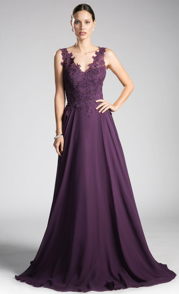 Celebrity Elegant Lace Top Mother Of The Bride Long Gown Dress CD9177-Mother of the Bride Dresses | alwaysprom.com-alwaysprom.com
