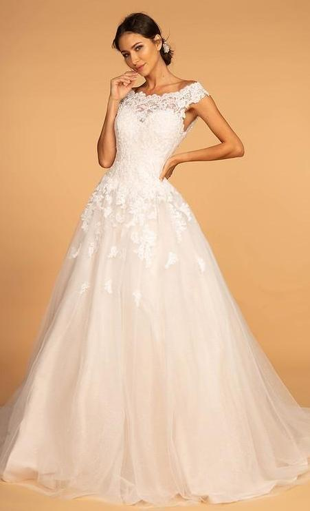 2019 NEW Embroidery Jewel Detailed Wedding Gown GSGL2596