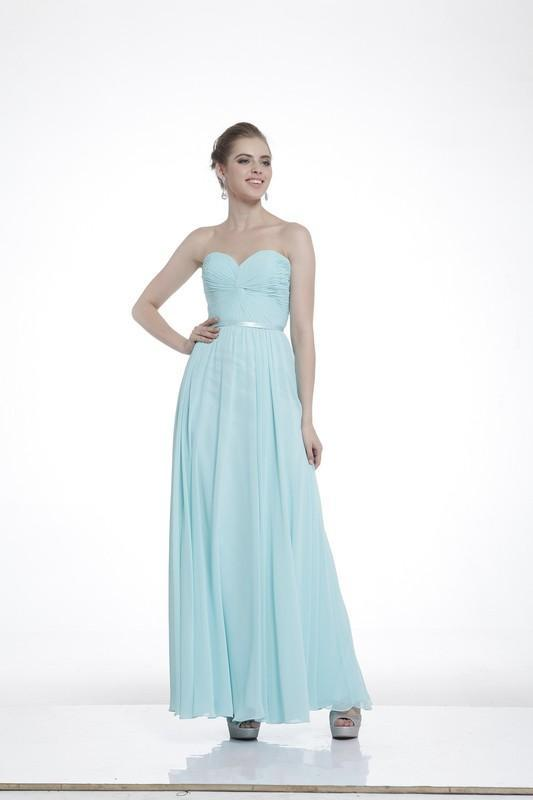 Chiffon Empire Waist Long Bridesmaid Dress Plus Size CD7455
