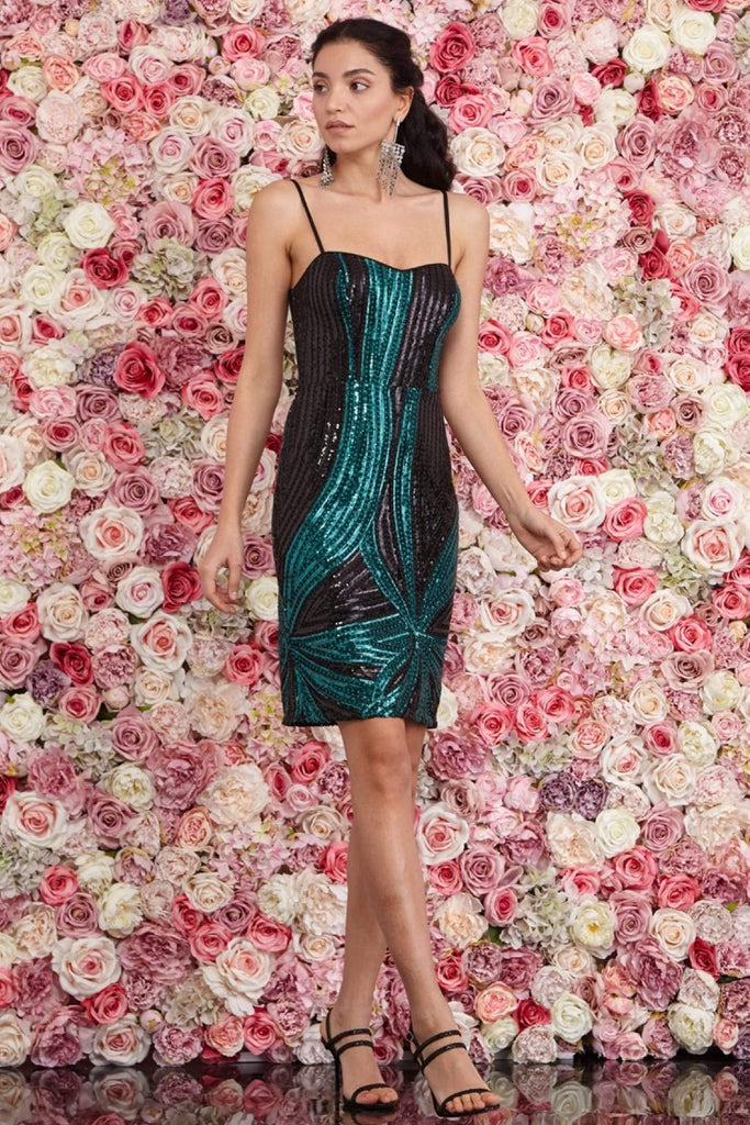 Sweetheart Neckline Spaghetti Straps Short Party Dress TK1477639