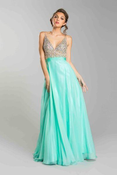 Elegant Prom Gowns With V Neck APL1240-Prom Dresses-smcfashion.com