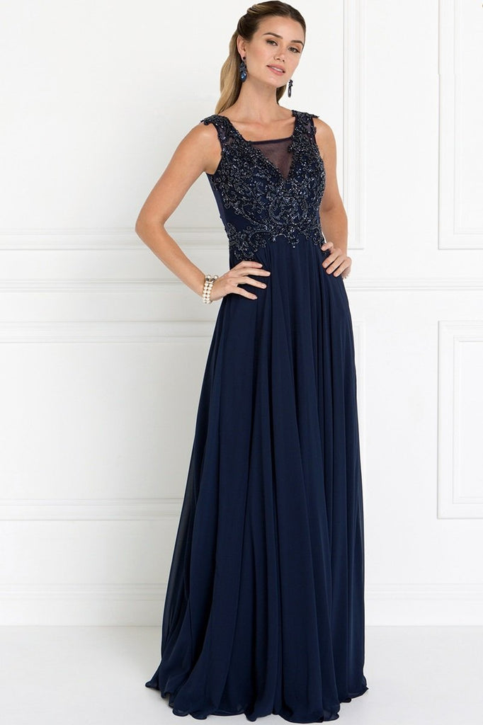 Beautiful V-neck Long Formal Dresses GSGL1566-Long Dresses-alwaysprom.com