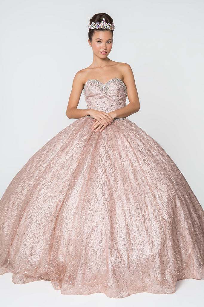 Sweetheart Neckline Long Prom Dress with Glitter Cloak GSGL2801