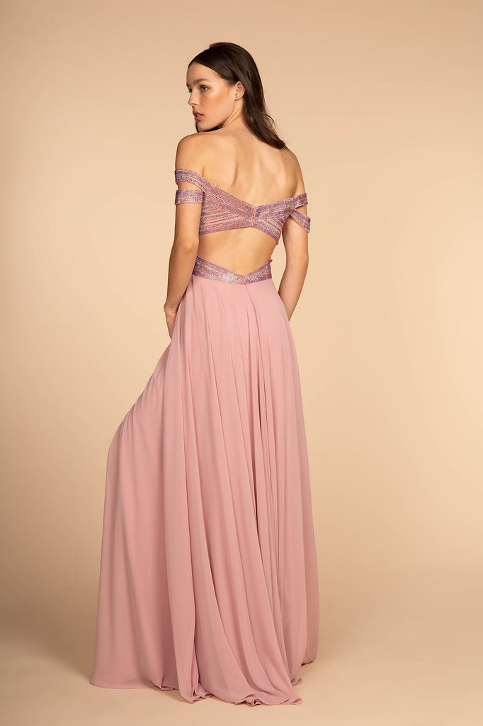 Off-Shoulder Sweetheart Neckline Long A-Line Prom Dress GSGL2527