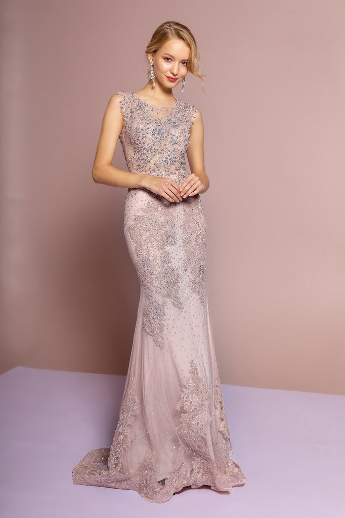 Embroidered Mermaid Long Prom Dress GSGL2616