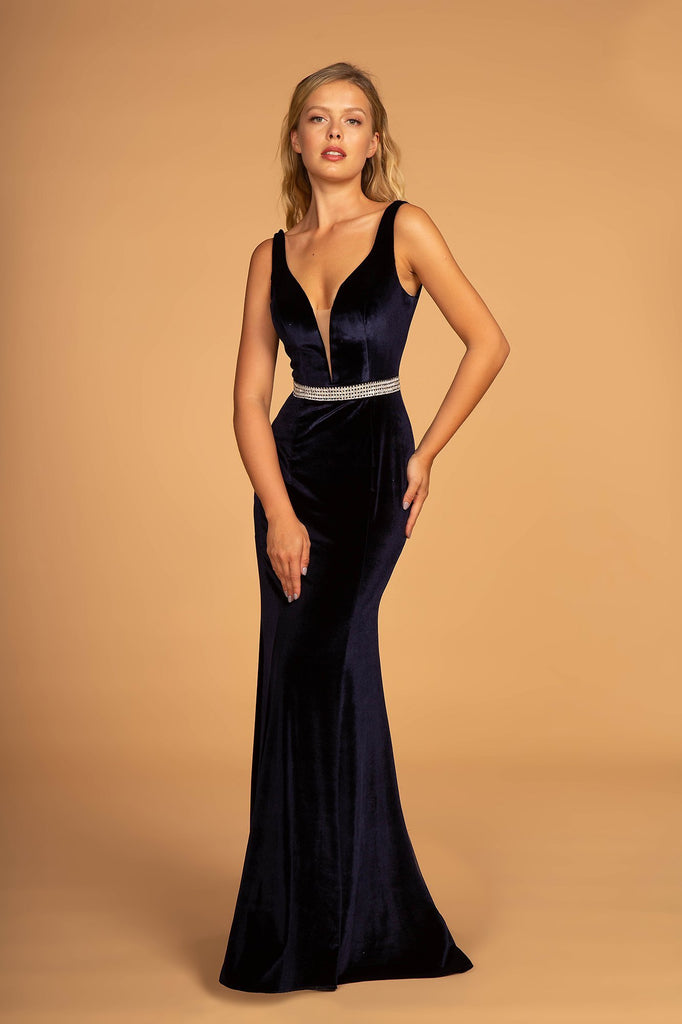 Mermaid Long Sexy Prom Dress with Deep V-Neckline GSGL2559