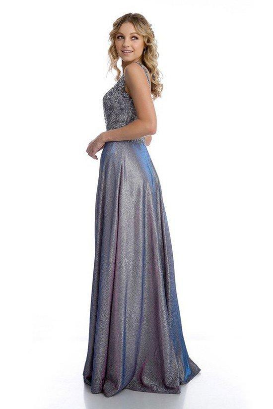 V-Neckline Sleeveless Long Prom Dress JT219