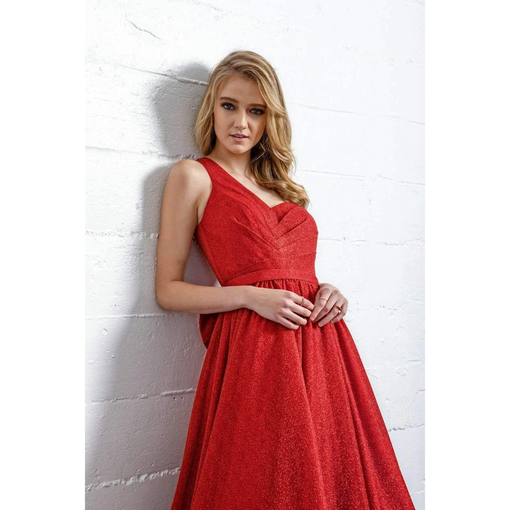 One Shoulder Sweetheart Long Prom Dress JT205