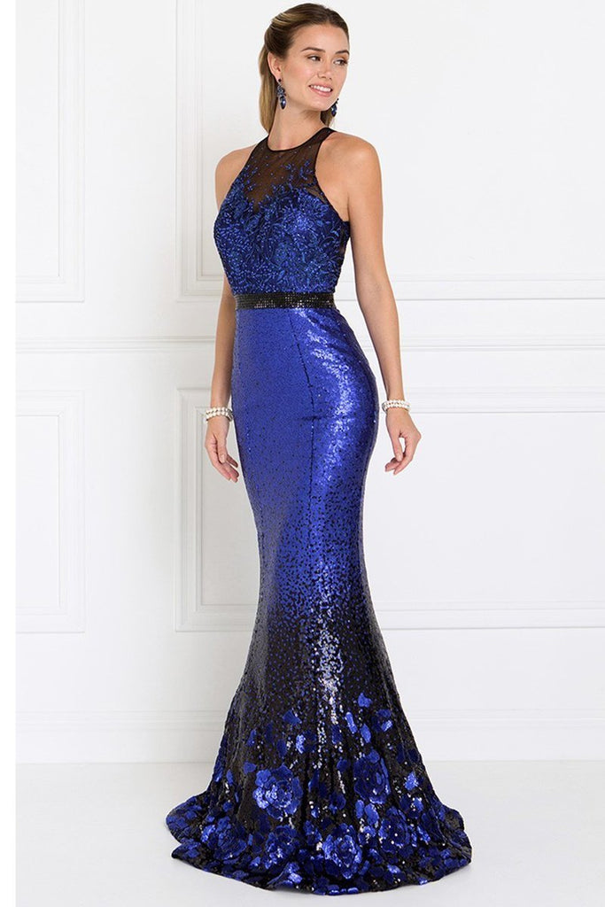 Illusion Mermaid Long Gowns GSGL1505-Prom Dresses-alwaysprom.com