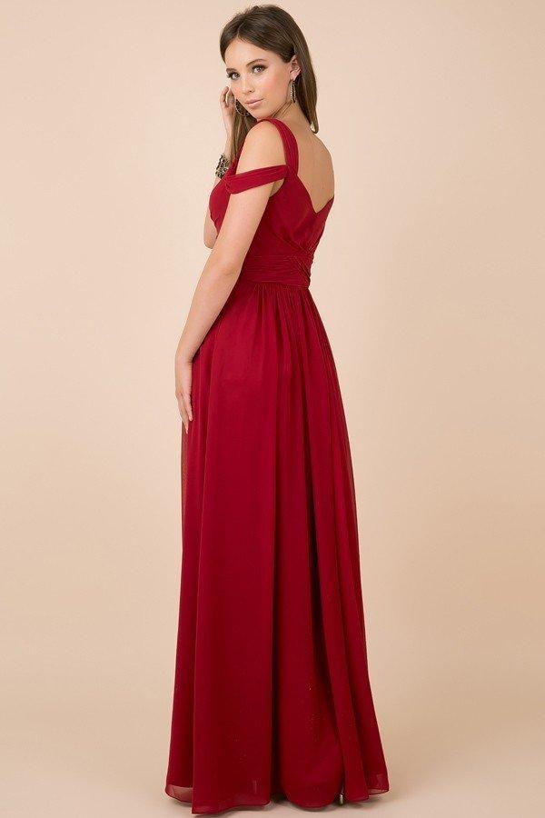 Sweetheart Neckline A-Line Long Bridesmaid Dress NXY277