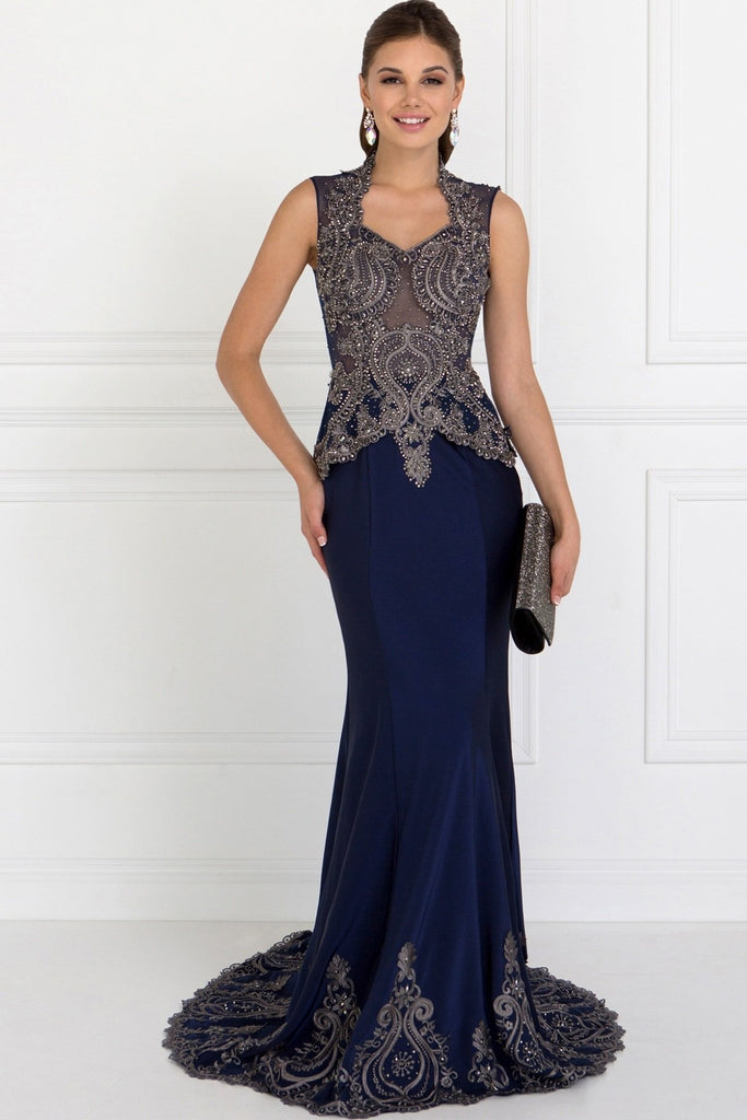 Evening Long Formal Dresses With Scoop Neckline GSGL1598-Evening Dresses-alwaysprom.com