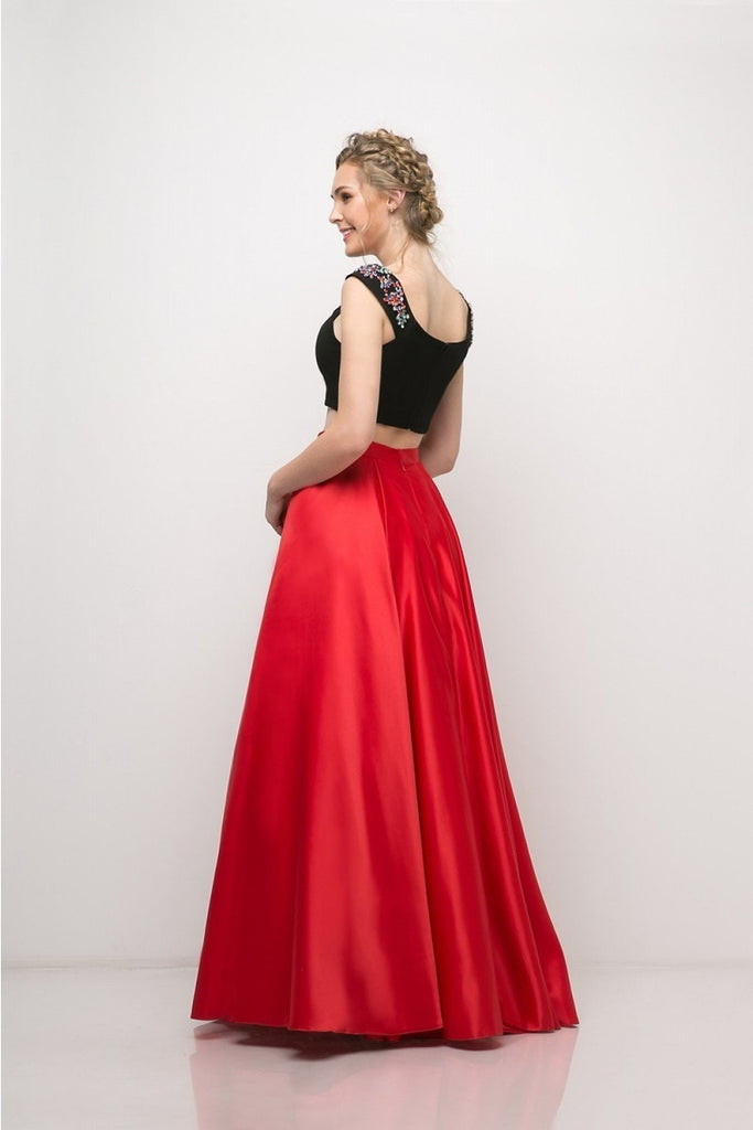 NEW Beaded Two Piece Satin Ball/Prom Long Gown CDCA316
