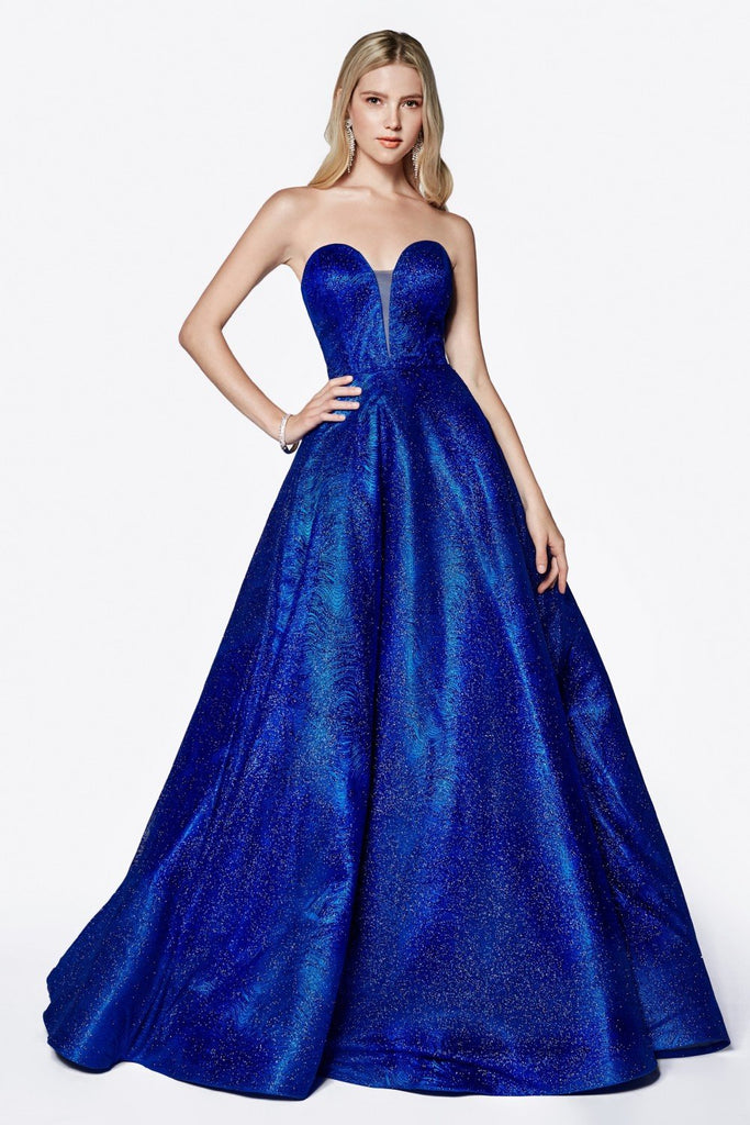 Sweetheart Neckline Strapless A-Line Long Prom Dress CDCB0033