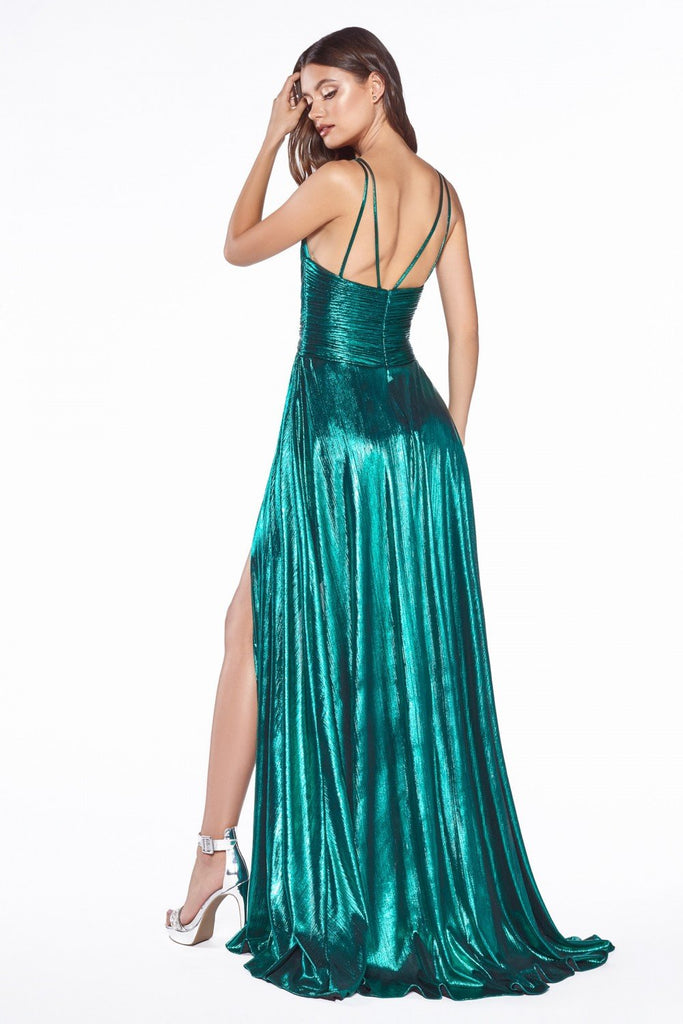 V-Neckline Long A-Line Prom Dress CDCD0151