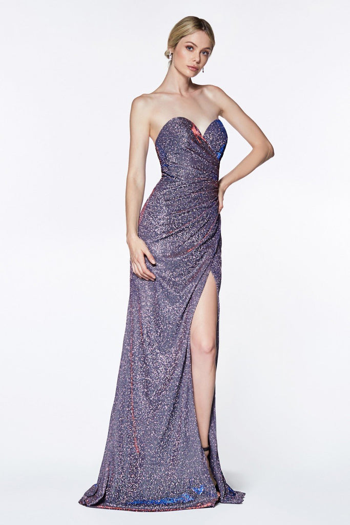 Sweetheart Neckline Strapless Sleeveless Long Prom Dress CDCE0019