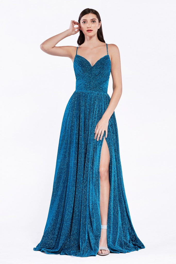 V-Neckline Sleeveless Long Prom Dress CDCJ534