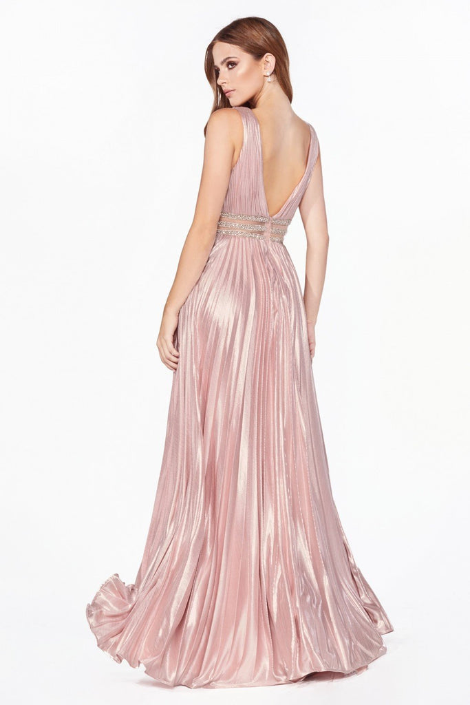 Illusion V-Neckline Prom Long Dress CDCJ537