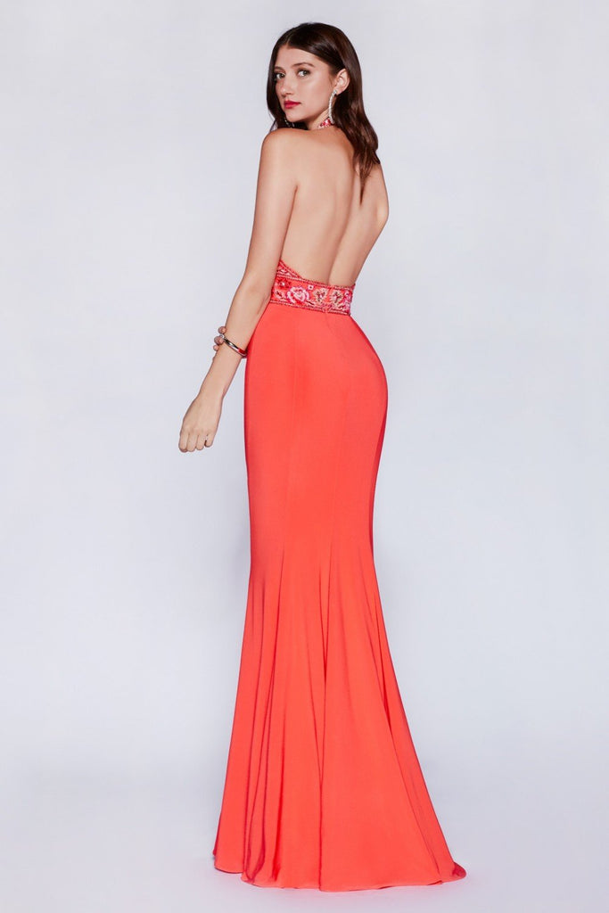 Halter Neckline Mermaid Long Prom Dress CDCR770