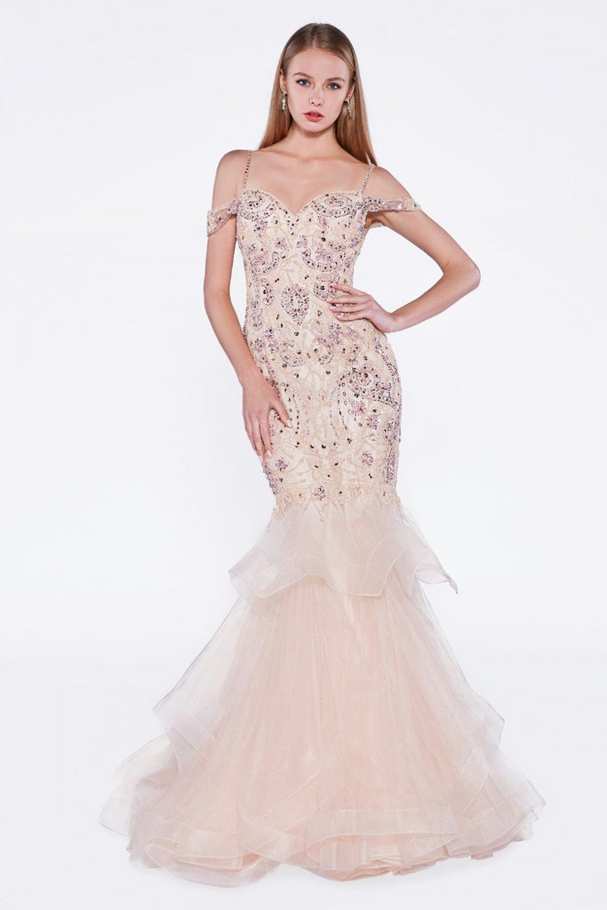 Jeweled Sweetheart Neckline Long Prom Dress CDCR776