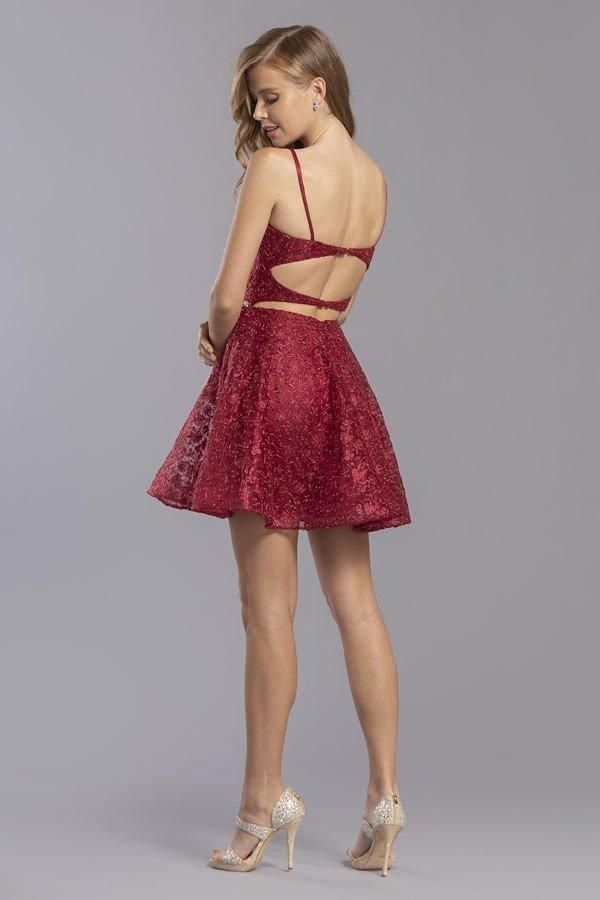 Spaghetti Straps Homecoming Short Dress APS2351