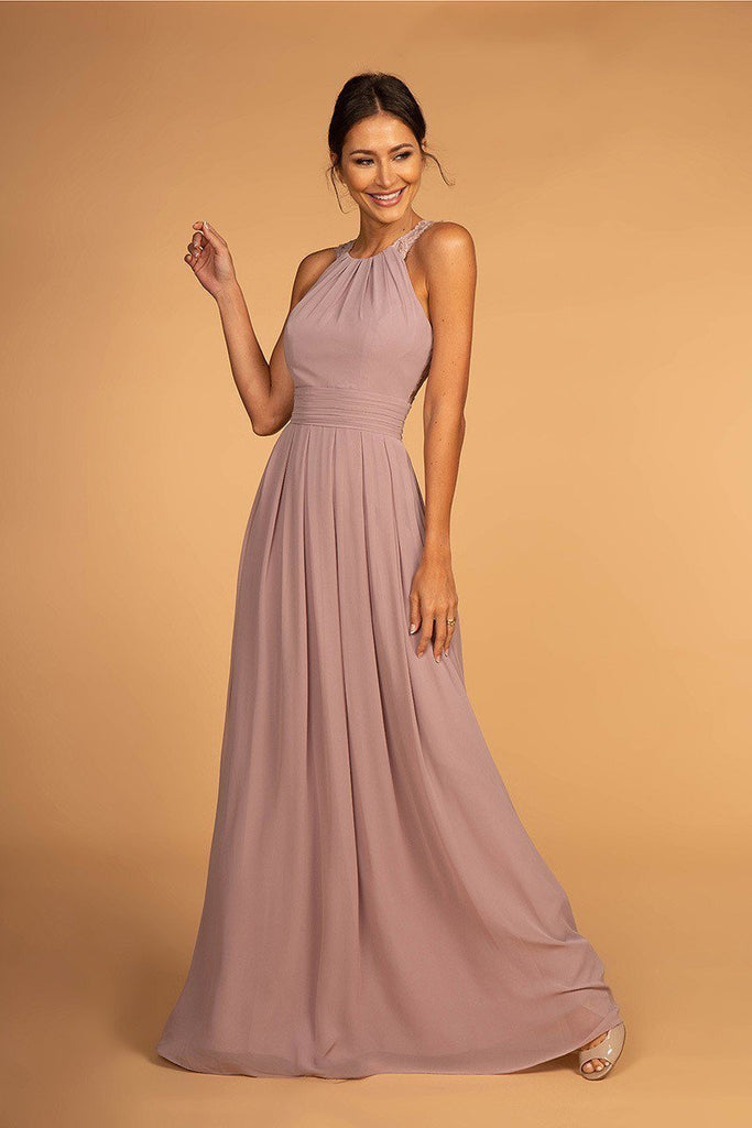 cheap Evening Open Back Bridsmaid A-Line Dress Gown GSGL2605-Bridesmaid Dresses | cheap Bridesmaid Dresses-alwaysprom.com