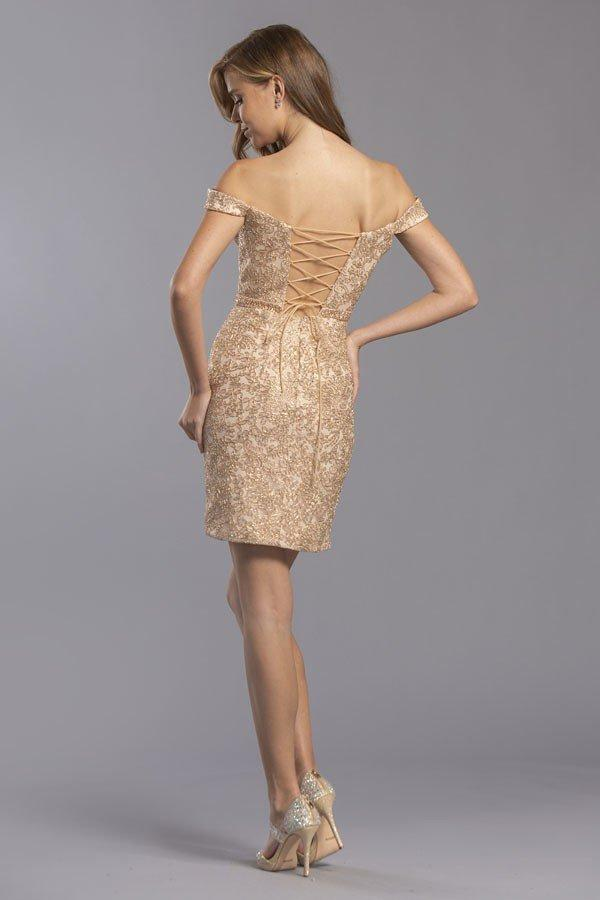 Off the Shoulder Sheath Short Homecoming Dress APS2333