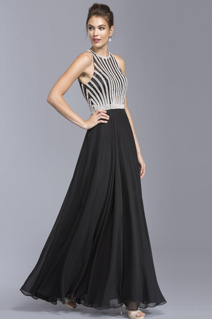 High Long Formal Dresses With Jewels APL2075-Evening Dresses-alwaysprom.com