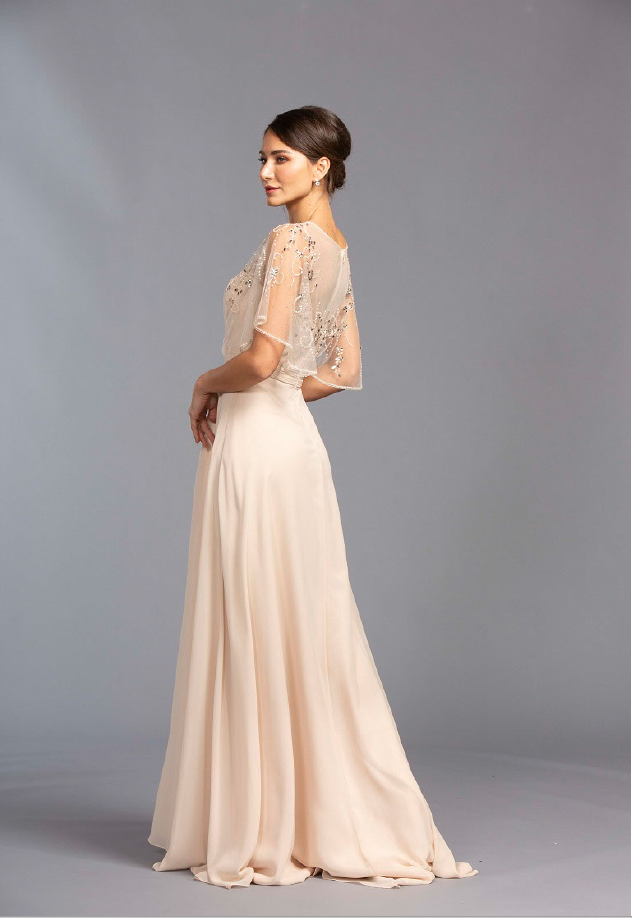 Illusion Neckline Long A-line Evening Dress APM2276