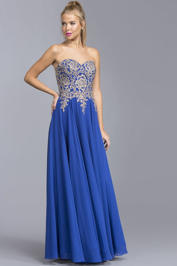Sweetheart Long Gown Dresses With Jewels APL2042-Prom Dresses-alwaysprom.com