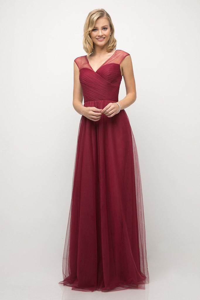 Tulle Empire Waist Bridesmaid Dress CDET320