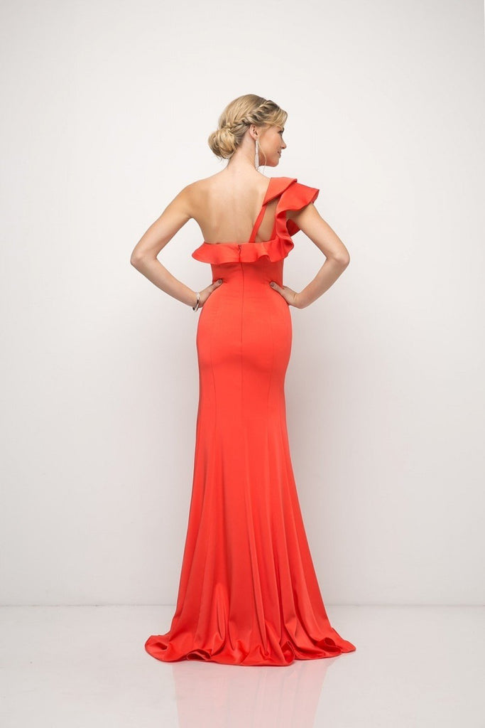 Stretch Knit Sheath Long Prom Dress CDET325