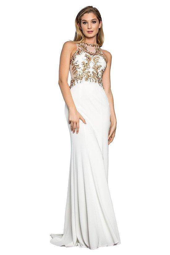 Elegant Prom Dresses 2019 With Illusion Neckline GSGL1418-Q-Sale-alwaysprom.com