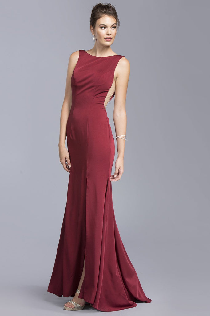 Mermaid Long Formal Gowns With Open Back APL2000-Long Dresses-alwaysprom.com