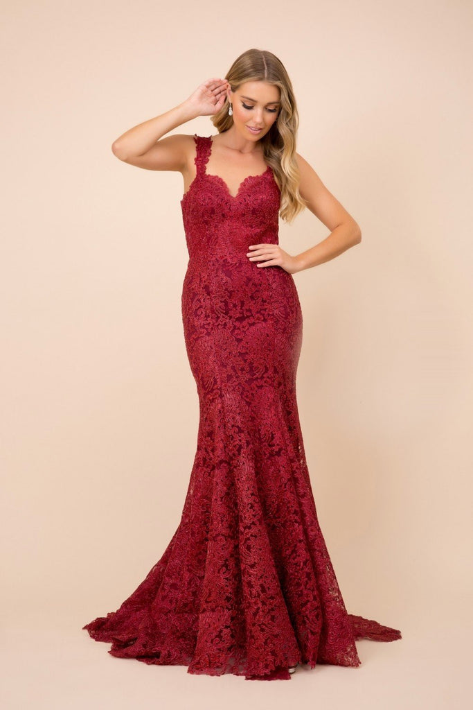Sweetheart Neck Lace Mermaid Shape Long Dress NXR216